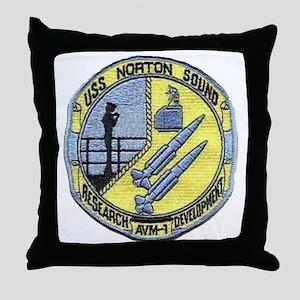 uss norton sound patch transparent Throw Pillow