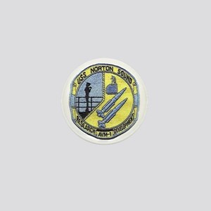 uss norton sound patch transparent Mini Button