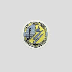uss norton sound patch transparent Mini Button