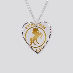 Italian Stallion Necklace Heart Charm