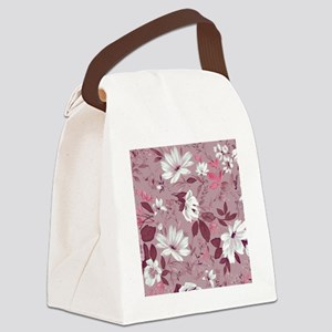 Flower in Pastel Canvas Lunch Bag