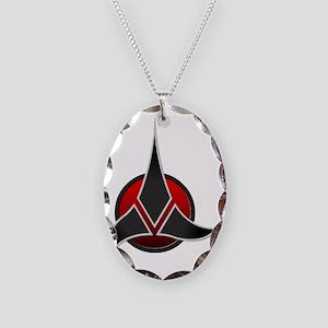 Klingon Empire insignia Necklace Oval Charm