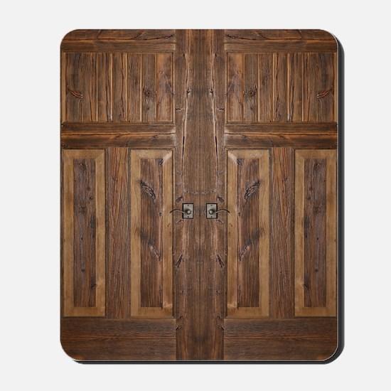 Wooden Door Mousepad