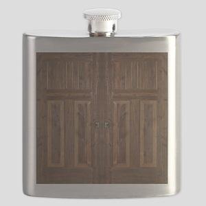 Wooden Door Flask