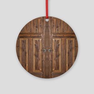 Wooden Door Round Ornament