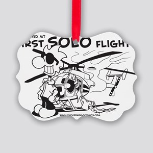 First Solo Flight (Helicopter) Picture Ornament