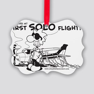 First Solo Flight (Plane) Picture Ornament