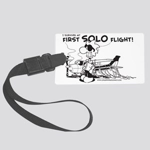First Solo Flight (Plane) Large Luggage Tag