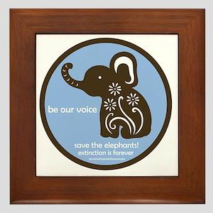 SAVE THE ELEPHANTS! Framed Tile