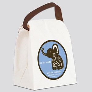 SAVE THE ELEPHANTS! Canvas Lunch Bag