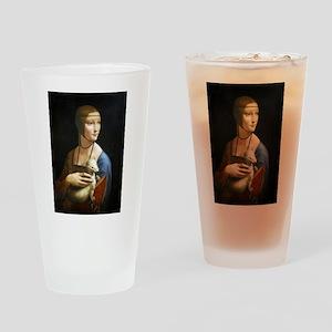 Lady With an Ermine - da Vinci Drinking Glass