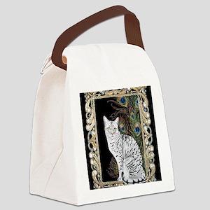 Silver Egyptian Mau Canvas Lunch Bag