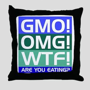 GMO callout Throw Pillow