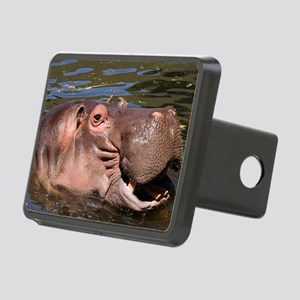 Happy Hippo Rectangular Hitch Cover
