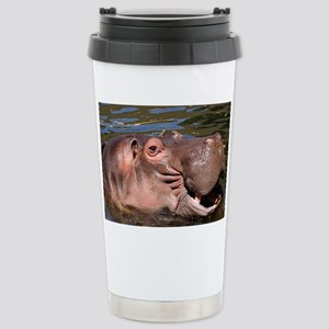 Happy Hippo Stainless Steel Travel Mug