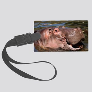 Happy Hippo Large Luggage Tag