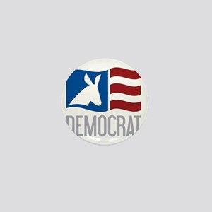 Democrat Donkey Flag Mini Button