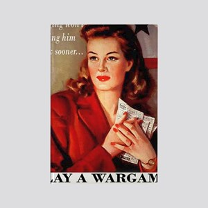 Play a Wargame! Womans T-Shirt Rectangle Magnet