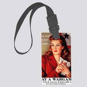 Play a Wargame! Womans T-Shirt Large Luggage Tag