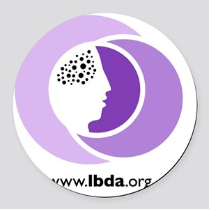 LBDA Doggy Shirt Round Car Magnet