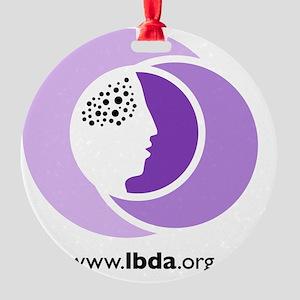 LBDA Doggy Shirt Round Ornament