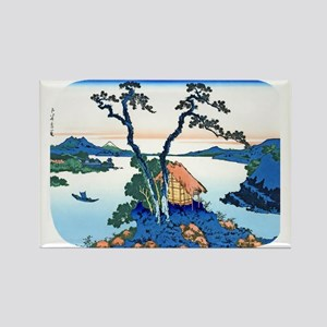 Hokusai Mt. Fuji View from .Suwa Rectangle Magnet