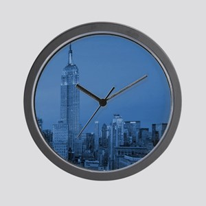 NYC, Empire State, Blue Wall Clock