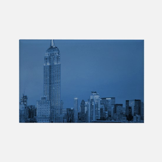 NYC, Empire State, Blue Rectangle Magnet