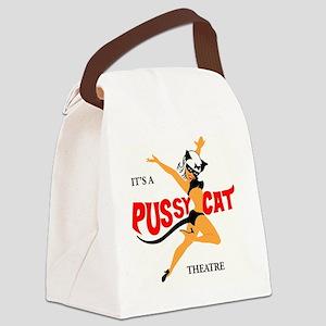 pussycat theatre Canvas Lunch Bag