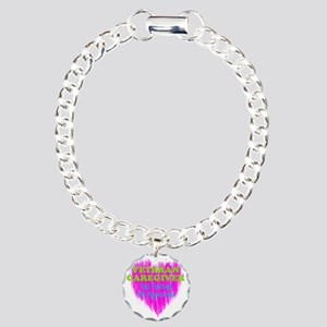 Veteran Caregiver Heart  Charm Bracelet, One Charm