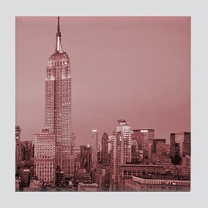 NYC, Empire State, Tile Coaster