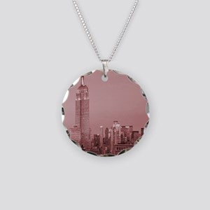 NYC, Empire State, Necklace Circle Charm