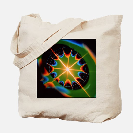 Magnetic field of superconducting magnet Tote Bag