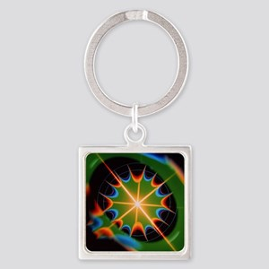 Magnetic field of superconducting  Square Keychain