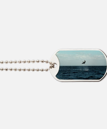 Mako shark on a fishing line Dog Tags