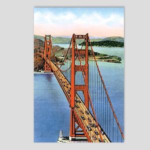 Vintage Golden Gate Bridg Postcards (Package of 8)