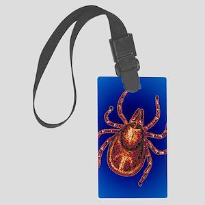 Lyme disease tick Large Luggage Tag