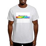 Married in Massachusetts Ash Grey T-Shirt