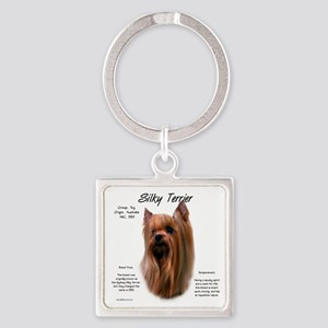 Silky Terrier Square Keychain