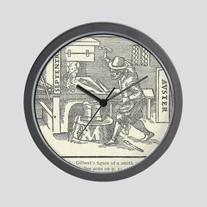 Magnetizing cooling iron Wall Clock