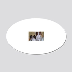 Papillions! 20x12 Oval Wall Decal