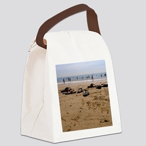 Sand and Sandals Canvas Lunch Bag