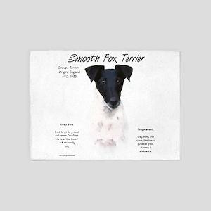 Smooth Fox Terrier 5'x7'Area Rug