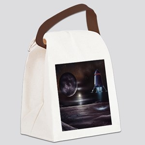 Manned mission to Charon, artwork Canvas Lunch Bag