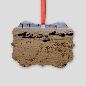 Sand  Sandals Picture Ornament
