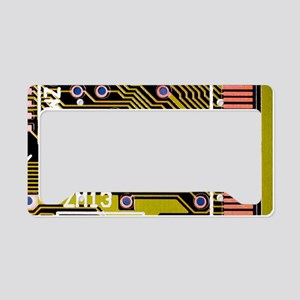 Macrophotograph of a circuit  License Plate Holder