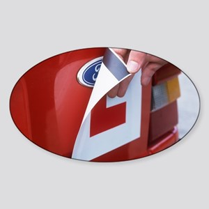 Magnetic L-plate Sticker (Oval)