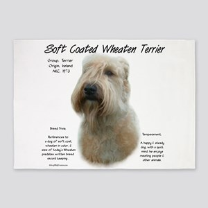 Soft Coated Wheaten Terrier 5'x7'Area Rug