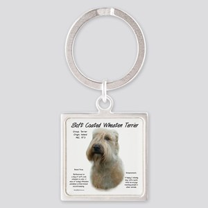Soft Coated Wheaten Terrier Square Keychain