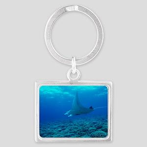 Manta ray Landscape Keychain